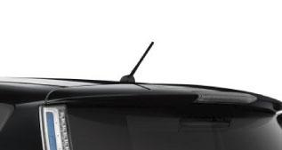 Black Rear Roof Spoiler
